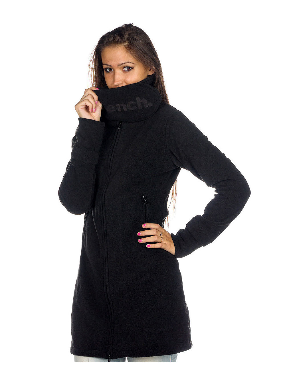 Long Funnel Neck Jacket Women
