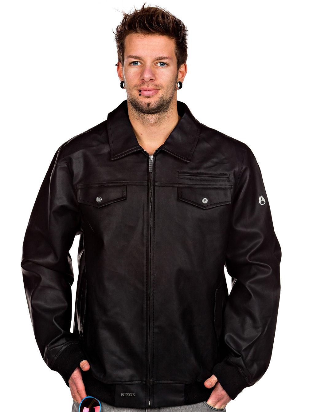 Rumble Faux Leather Jacket