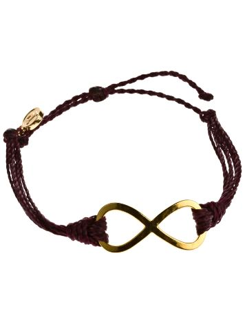 Pura Vida Burgundy 8 Endless Sign Bracelet