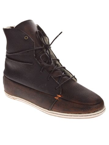 HUB Song Leather Wool Shoes